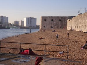Image of the walls and beach