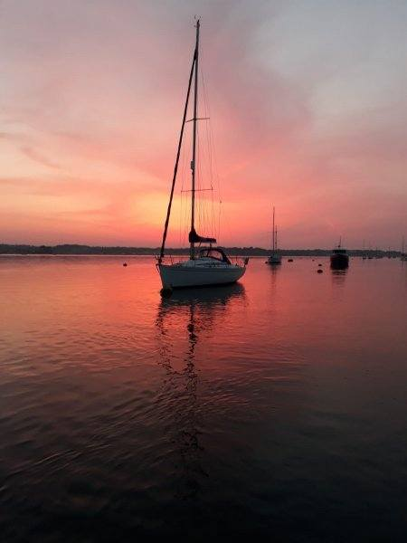 Sunset in Poole Harbour